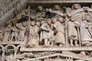 Detail timpaan abatiale te Conques