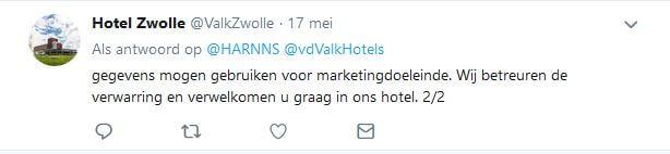 Tweet van der Valk - tweede deel van het antwoord